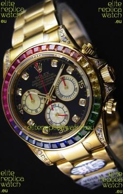 Rolex Cosmograph Daytona 116598 Yellow Gold 1:1 Mirror Cal.4130 Movement - Ultimate 904L Steel Watch