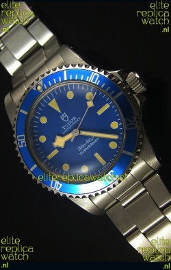 Tudor Oyster Prince Vintage 200M Blue Dial Dot Markers Swiss 1:1 Mirror Replica Watch