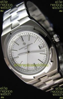 Vacheron Constantin Overseas Steel White Dial Swiss Replica 1:1 Mirror Watch