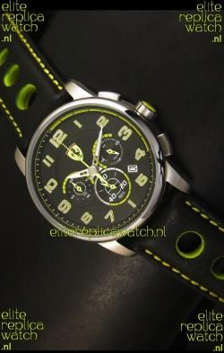 Scuderia Ferrari Heritage Chronograph Watch in Steel Case