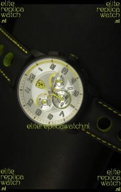 Scuderia Ferrari Heritage SF107 Chronograph Watch in Black Steel
