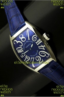 Franck Muller Casablanca Crazy Colors Edition Japanese Watch in Blue