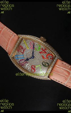 Franck Muller Master of Complications Casablanca Ladies Watch in Rose Gold Case