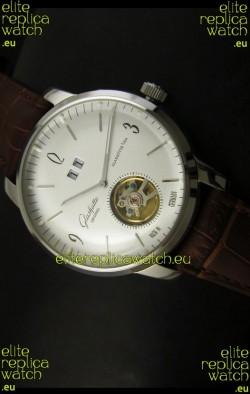 Glashuette Tourbillon Japanese Replica Watch in White Dial