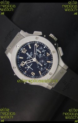 Hublot Big Bang Matte Stainless Steel Case Swiss Replica Watch - 1:1 Mirror Replica