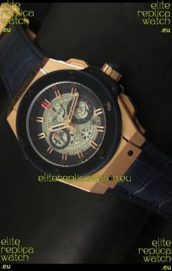 Hublot Big Bang King Rose Gold Skeleton Dial Watch Swiss Quartz 45MM