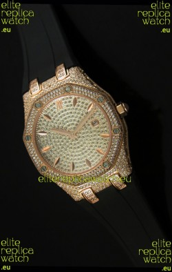 Audemars Piguet Royal Oak LADY Replica Watch in Diamonds Dial Edition