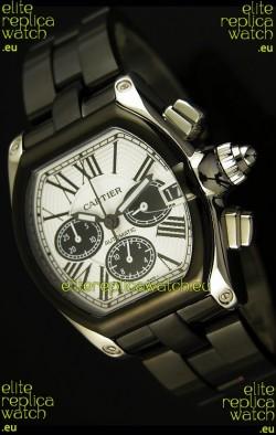 Cartier Roadster Chronograph XL Original DLC Coated 1:1 Mirror Replica Watch