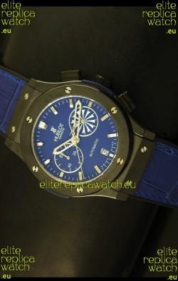 Hublot Classic Fusion Chrono Japanese Quartz Replica Watch in Blue Dial