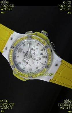 Hublot Big Bang 34MM Ladies Tutti Frutti Edition in Yellow Strap