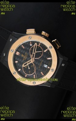 Hublot Classic Fusion Chrono Japanese Quartz Replica Watch Two Tone