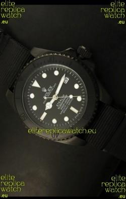 Rolex Submariner STEALTH Edition Swiss Replica in Black Strap