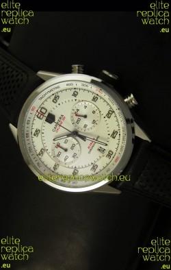 Tag Heuer Carrera Calibre 36 Flyback White Dial Replica Watch - Quartz Movement