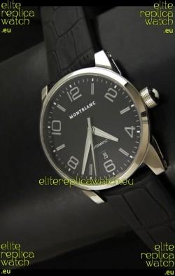 Mont Blanc Timewalker Swiss Automatic Watch in Black Dial - Ultimate Mirror Replica