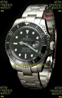 Rolex Submariner Watch with Glidelock Clasp Green Bezel/Dial