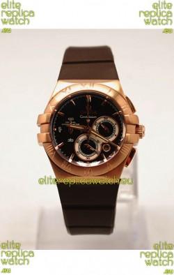 Omega Constellation Ladies Chronograph Replica Watch - 35MM
