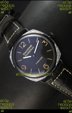 Panerai Radiomir PAM604 3 Days DLC Coated Swiss Watch with Unitas Movement