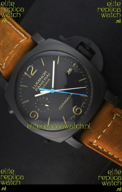 Panerai Luminor PAM00580 1950 3 Days Chrono Flyback Ceramica Watch P.9100 Movement