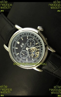 Patek Philippe Complications Tourbillon Japanese Replica Watch in Steel