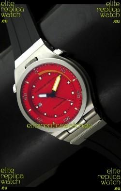 Porsche Design Diver Swiss Titanium Watch in Red Dial - Ultimate Mirror Replica