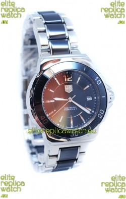Tag Heuer Formula 1 Quartz Steel Black Ceramic Watch in Black Dial
