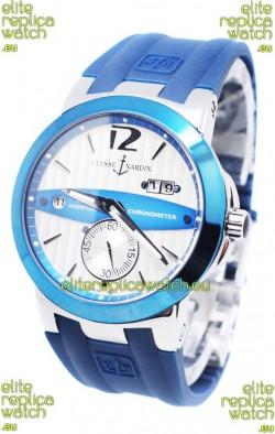 Ulysse Nardin Executive Dual Time Japanese Replica Watch in Persian Blue Bezel