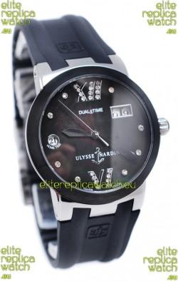 Ulysse Nardin Executive Dual Time Diamond Black Watch