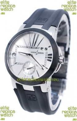 Ulysse Nardin Executive Dual Time Steel Black Watch