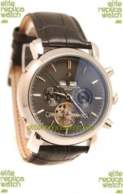 Vacheron Constantin Malte Tourbillon Japanese Replica Watch in Black Dial