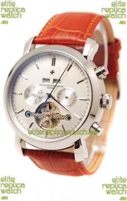 Vacheron Constantin Malte Tourbillon Japanese Watch in Brown Strap