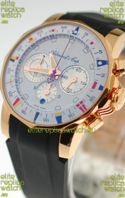 Corum Admirals Cup Chronograph Swiss Replica Gold Watch