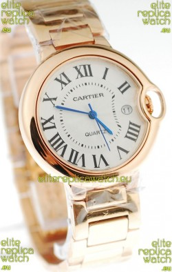 Ballon Bleu De Cartier Japanese Replica Pink Gold Watch