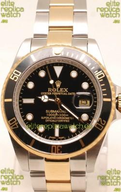 Rolex Submariner Two Tone Swiss Replica Watch Ceramic Bezel