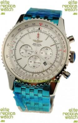 Breitling Navitimer Chronometre Japanese Watch in White Dial