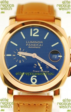 Panerai Luminor Marina Power Reserve Japanese Replica Gold Watch