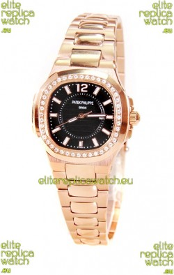 Patek Philippe Nautilus Ladies Replica Pink Gold Watch