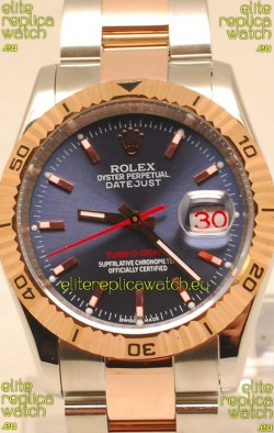 Rolex Datejust Turn O Graph Japanese Rose Gold Watch