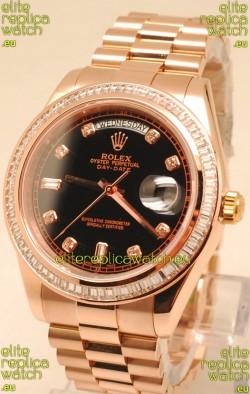 Rolex Day Date II Rose Gold Japanese Replica Watch