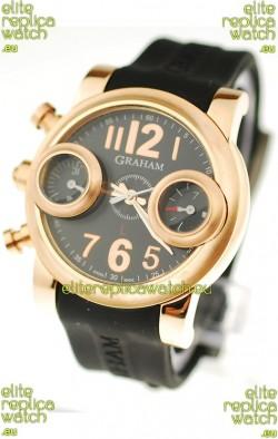 Graham Swordfish Japanese Replica Gold Watch in Golden Markers