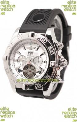 Breitling Chronograph Chronometre Japanese Tourbillon Watch in White Dial
