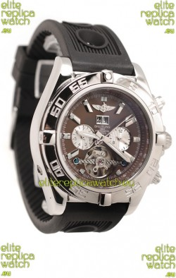 Breitling Chronograph Chronometre Japanese Tourbillon Watch in Brown Dial