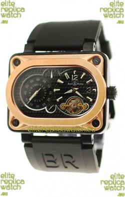 Bell and Ross BR Minuteur Tourbillon Japanese Replica Gold Watch