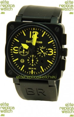 Bell and Ross BR01-94 Edition Swiss Replica Automatic Watch in Yellow Markers