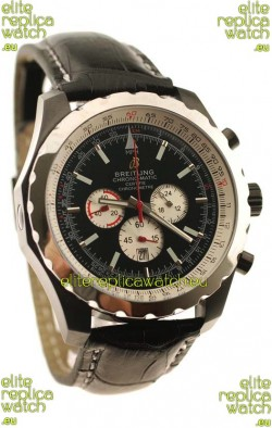 Breitling Chrono-Matic Chronometre Japanese Replica Watch in Black Strap