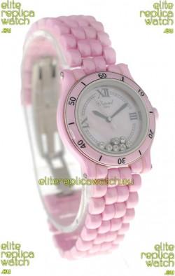 Chopard Happy Sport Ladies Japanese Pink Watch