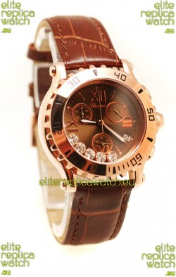 Chopard Happy Sport Ladies Gold Swiss Watch