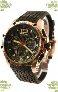 Chopard Classic Racing Superfast Swiss Replica Gold Watch in Black Dial