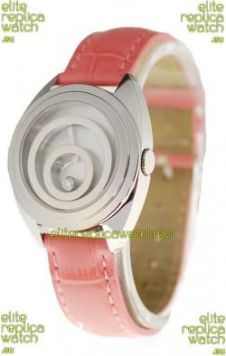 Chopard Happy Spirit Ladies Japanese Replica Watch in Pink Strap