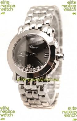 Chopard Happy Sport Swiss Ladies Steel Watch in Black Dial