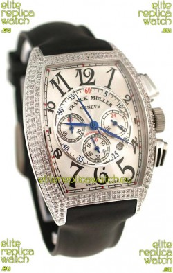 Franck Muller Master of Complications Swiss Replica Watch in Diamond Bezel